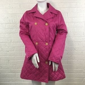 Lilly Pulitzer pink quilted jacket